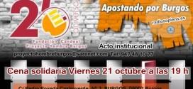[Proyecto hombre] – Cuña del Acto institucional y Cena Solidaría  en Burgos