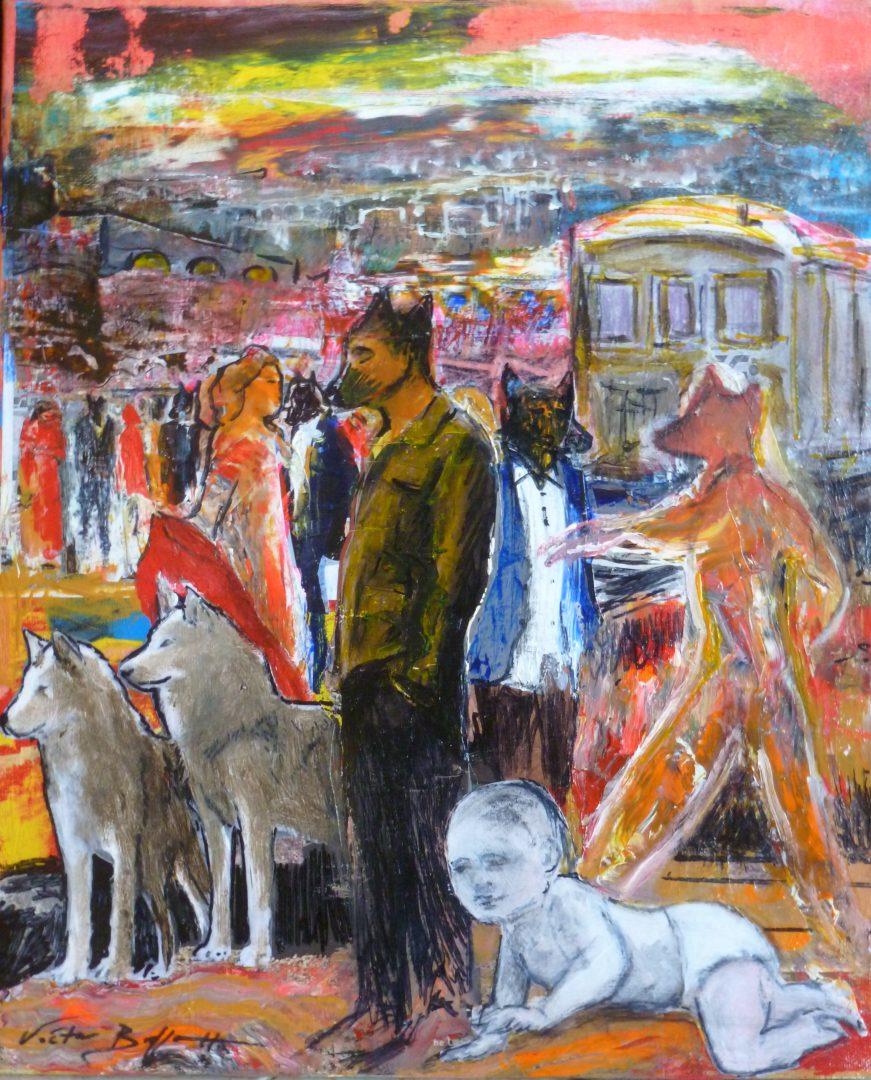 Lobos y Caperucitas costumbrista 4 | Victor Brossah